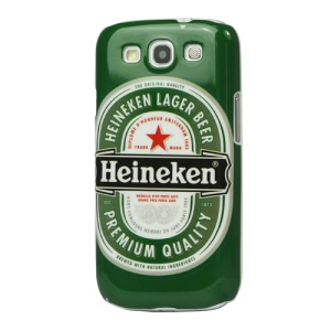 Glossy Heineken Lager Beer Hard Case Cover for Samsung Galaxy S 3 / III I9300