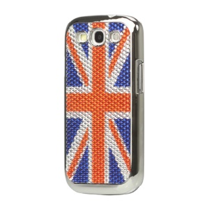 Union Jack Flag Diamante Hard Cover for Samsung Galaxy S 3 / III I9300