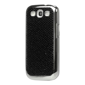 Rhinestone Bling Hard Case for Samsung Galaxy S 3 / III I9300 - Black