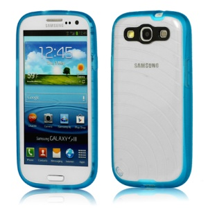 Flashpowder Noctilucent Plastic &amp; TPU Hybrid Case for Samsung I9300 Galaxy S 3 / III - Blue