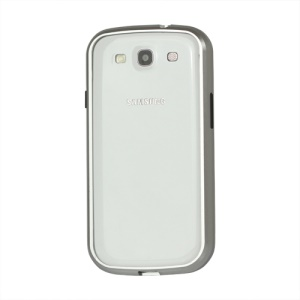 Aluminum Metal Alloy Bumper Case for Samsung Galaxy S 3 / III I9300 I747 L710 T999 I535 R530 - Silver