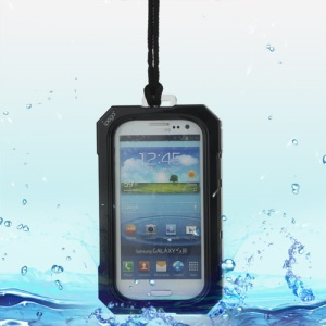 iPega Best Samsung Galaxy S 3 / III I9300 Waterproof Case for Life in Water Dirt Snow - Black