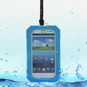 iPega Best Samsung Galaxy S 3 / III I9300 Waterproof Case for Life in Water Dirt Snow - Blue