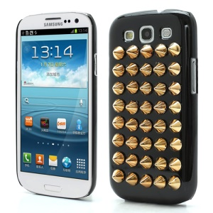 Cool Punk Rivet Studs Plastic Hard Cover Case for Samsung Galaxy S3 / III I9300 - Black