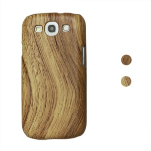 Wood Grain Leather Coated Hard Case for Samsung Galaxy S 3 / III I9300 I747 L710 T999 I535 R530