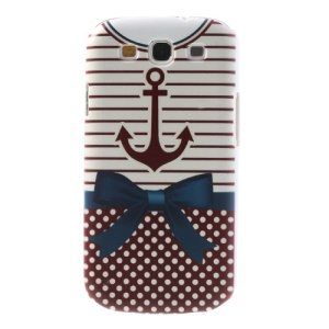 For Samsung Galaxy S3 I9300 Stripe & Dots Shirt Hard Plastic Cover