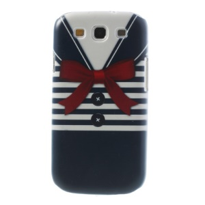For Samsung Galaxy S3 I9300 Blue Stripe Shirt Hard Plastic Shell
