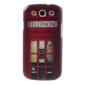 Telephone Booth for Samsung Galaxy S III I9300 Plastic Cover