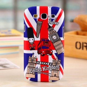 Umku for Samsung Galaxy S3 I747 UK Elements on UK Flag Background Plastic Cover