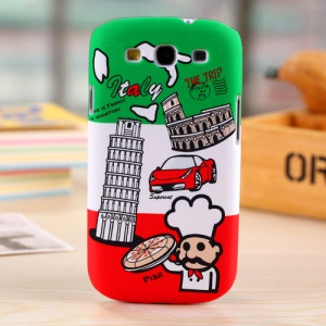 Umku for Samsung Galaxy S3 I535 Italy Leaning Tower & Pizza Hard Back Case