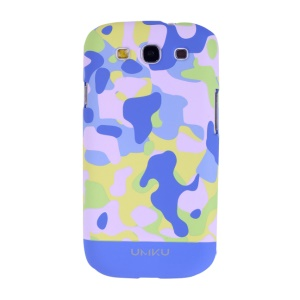 Light Blue Umku Camouflage Series for Samsung Galaxy S3 I9300 Hard Case