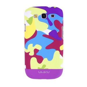 Light Purple Umku Camouflage Series for Samsung Galaxy S3 I9300 Hard Back Shell