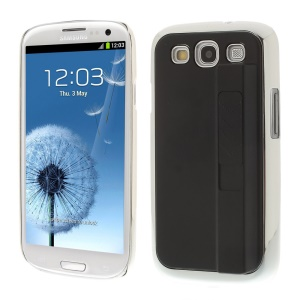 Protective Plastic Hard Case w/ Electric Lighter for Samsung Galaxy S3 i9300 - Black