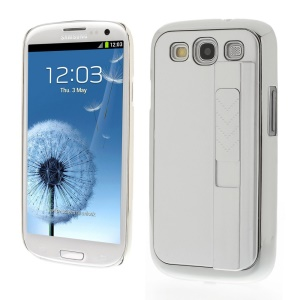 Protective Plastic Hard Cover w/ Electric Lighter for Samsung Galaxy S3 i9300 - Silver