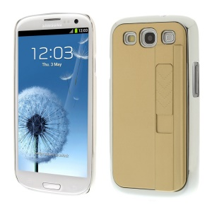 Protective Plastic Hard Shell w/ Electric Lighter for Samsung Galaxy S3 i9300 - Champagne