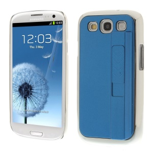 Protective Plastic Hard Shell Cover w/ Electric Lighter for Samsung Galaxy S3 i9300 - Blue
