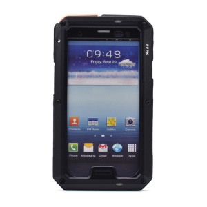 PEPKOO for Samsung Galaxy S III I9300 Waterproof Dropproof Shockproof Metal + Silicone Shell - Black