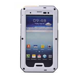 PEPKOO for Samsung Galaxy S III I9300 Waterproof Dropproof Shockproof Metal + Silicone Case - White