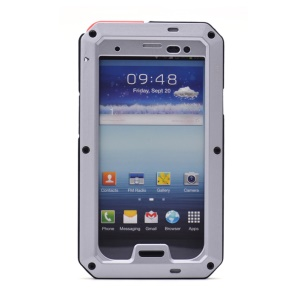 PEPKOO for Samsung Galaxy S III I9300 Waterproof Dropproof Shockproof Metal + Silicone Cover - Silver