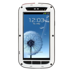 White Redpepper Metal + Silicone Drop-proof Shockproof Dustproof Protector Case for Samsung Galaxy S3 i9300