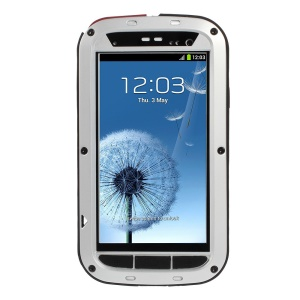 Silver Redpepper Metal + Silicone Drop-proof Shockproof Dustproof Protector Cover for Samsung Galaxy S3 i9300