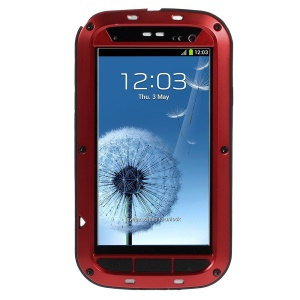 Red Redpepper Metal + Silicone Drop-proof Shockproof Dustproof Protection Cover for Samsung Galaxy S3 i9300