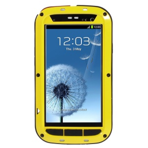 Yellow Redpepper Metal + Silicone Dropproof Shockproof Dustproof Protection Case for Samsung Galaxy S3 i9300