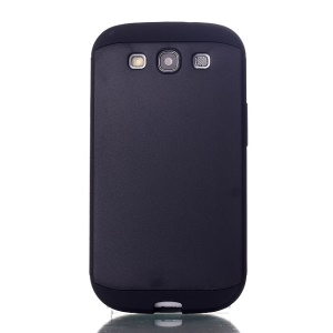 2 in 1 Slim Armor PC & TPU Hybrid Case for Samsung Galaxy S3 i9300 - Black