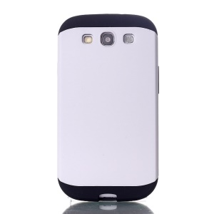2 in 1 Slim Armor PC & TPU Hybrid Shell for Samsung Galaxy S3 i9300 - White