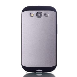 2 in 1 Slim Armor PC & TPU Combo Cover for Samsung Galaxy S3 i9300 - Grey