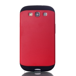 2 in 1 Slim Armor PC & TPU Protection Case for Samsung Galaxy S3 i9300 - Red