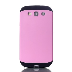 2 in 1 Slim Armor PC & TPU Protection Shell for Samsung Galaxy S3 i9300 - Pink