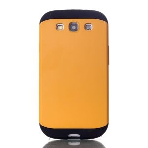 2 in 1 Slim Armor PC & TPU Combo Cover for Samsung Galaxy S3 i9300 - Yellow