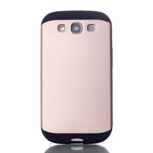 2 in 1 Hybrid PC & TPU Slim Armor Case for Samsung Galaxy S3 i9300 - Gold