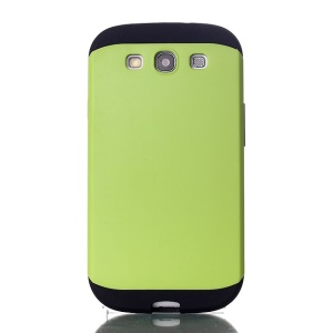 2 in 1 Hybrid PC & TPU Slim Armor Case for Samsung Galaxy S3 i9300 - Green