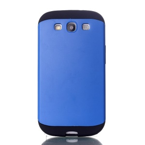 2 in 1 Slim Armor PC & TPU Back Case for Samsung Galaxy S3 i9300 - Light Blue