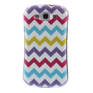 Superb Shellstyle Colorful Waves PC + TPU Hybrid Case for Samsung Galaxy S3 i9300