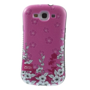 Superb Shellstyle Charming Flowers PC + TPU Hybrid Cover for Samsung Galaxy S3 i9300