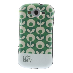 Orla Kiely Flower Oval Pattern PC + TPU Protection Case for Samsung Galaxy S3 i9300