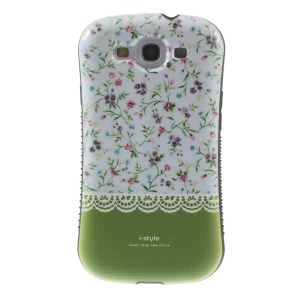 iFace i-style Green Flowerlet PC + TPU Combo Hardened Case for Samsung Galaxy S3 i9300