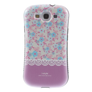 Superb iFace i-style Violet Flowers PC + TPU Hybrid Back Case for Samsung Galaxy S3 i9300
