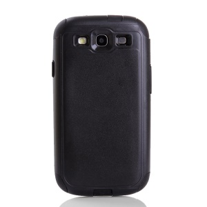 Shockproof Dustproof PC & TPU Hybrid Protector Case for Samsung Galaxy S3 i9300 - Black