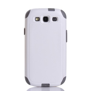 Shockproof Dustproof PC & TPU Hybrid Protector Shell for Samsung Galaxy S3 i9300 - White