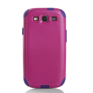Shockproof Dustproof PC & TPU Hybrid Protective Cover for Samsung Galaxy S3 i9300 - Rose