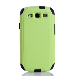Shockproof Dustproof PC & TPU Combo Protective Case for Samsung Galaxy S3 i9300 - Green