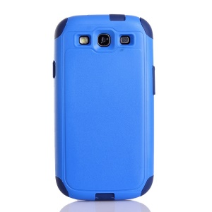 Shockproof Dustproof PC & TPU Hybrid Back Cover for Samsung Galaxy S3 i9300 - Blue