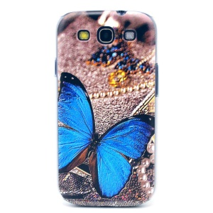 Blue Butterfly Hard Plastic Cover for Samsung Galaxy S3 i9300