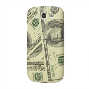 Hundred Dollar Leather Hard Cover for Samsung Galaxy S 3 / III I9300 I747 L710 T999 I535 R530