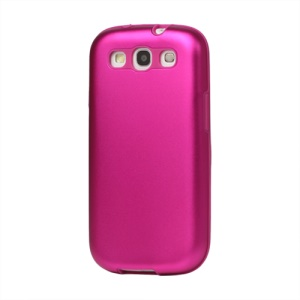 Aluminum Silicone Hybrid Case for Samsung Galaxy S 3 / III I9300 I747 L710 T999 I535 R530 - Rose