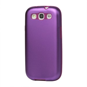 Aluminum Silicone Hybrid Case for Samsung Galaxy S 3 / III I9300 I747 L710 T999 I535 R530 - Purple